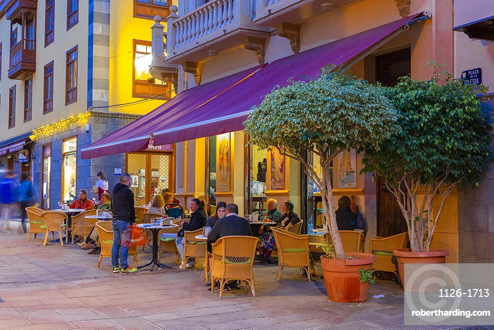 Restaurant, Puerto de la Cruz, Tenerife, Canary Islands, Spain, Atlantic Ocean, Europe,