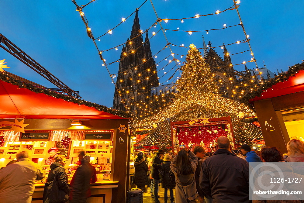 Cologne Christmas Market, Cologne, Germany, Europe