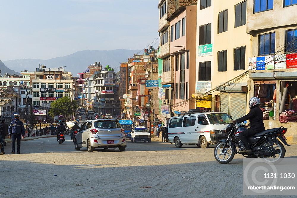 Street scene in Thamel district, Kathmandu, Nepal, Asia
