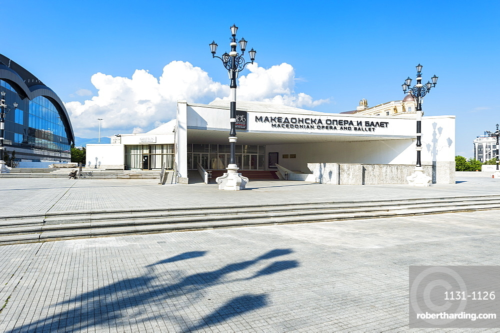 Macedonian Opera and Ballet building, Skopje, Macedonia, Europe