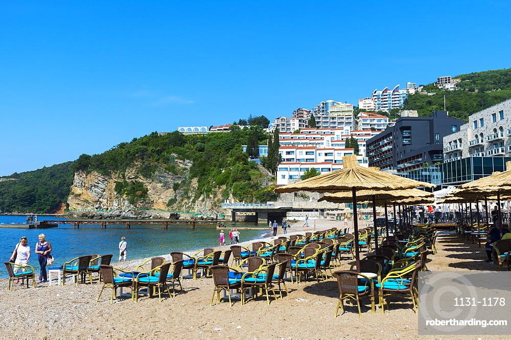 Mogren beach in Budva, Montenegro, Europe