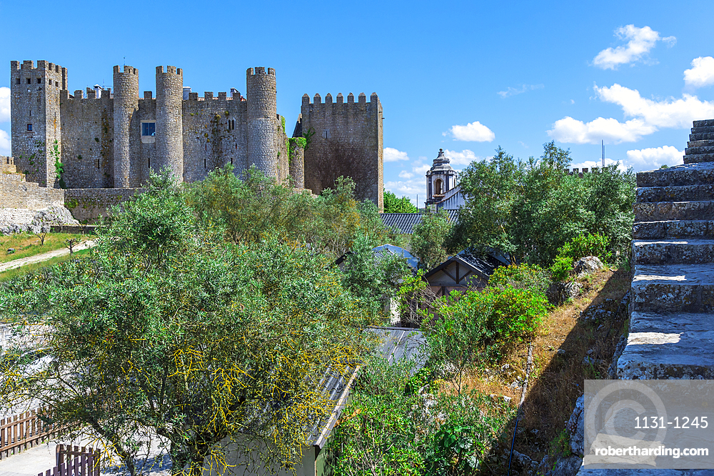 Obidos castle, Leiria District, Estremadura, Portugal, Europe