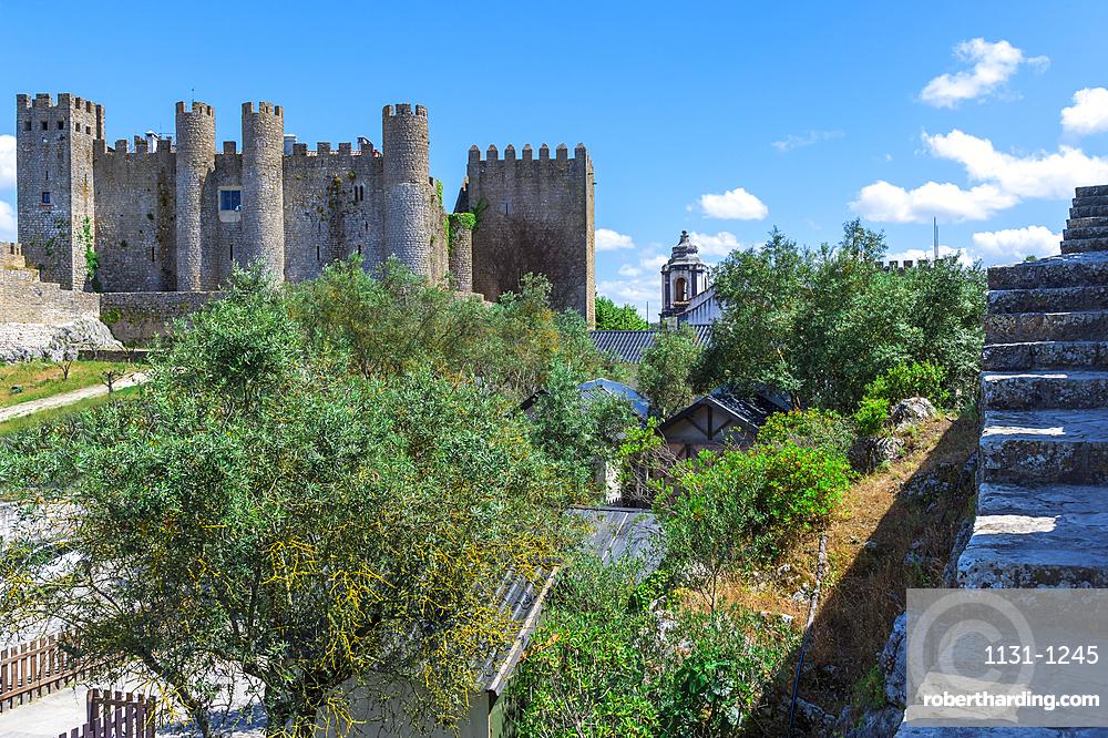 Obidos castle, Leiria District, Estremadura, Portugal, Europe