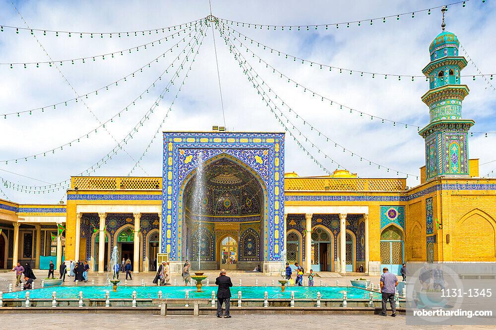 Azam Mosque courtyard, Shrine of Fatima al-masumeh , Qom, Iran