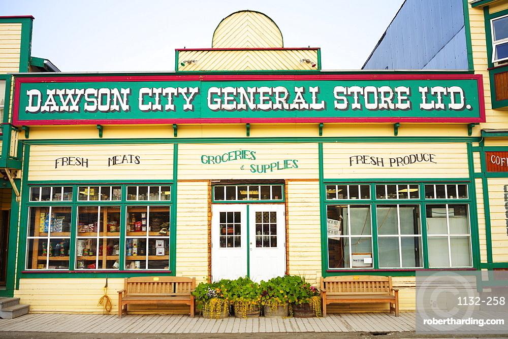 A Historic Building on Dawson City's Main Street, Dawson City, Yukon, Canada, North America
