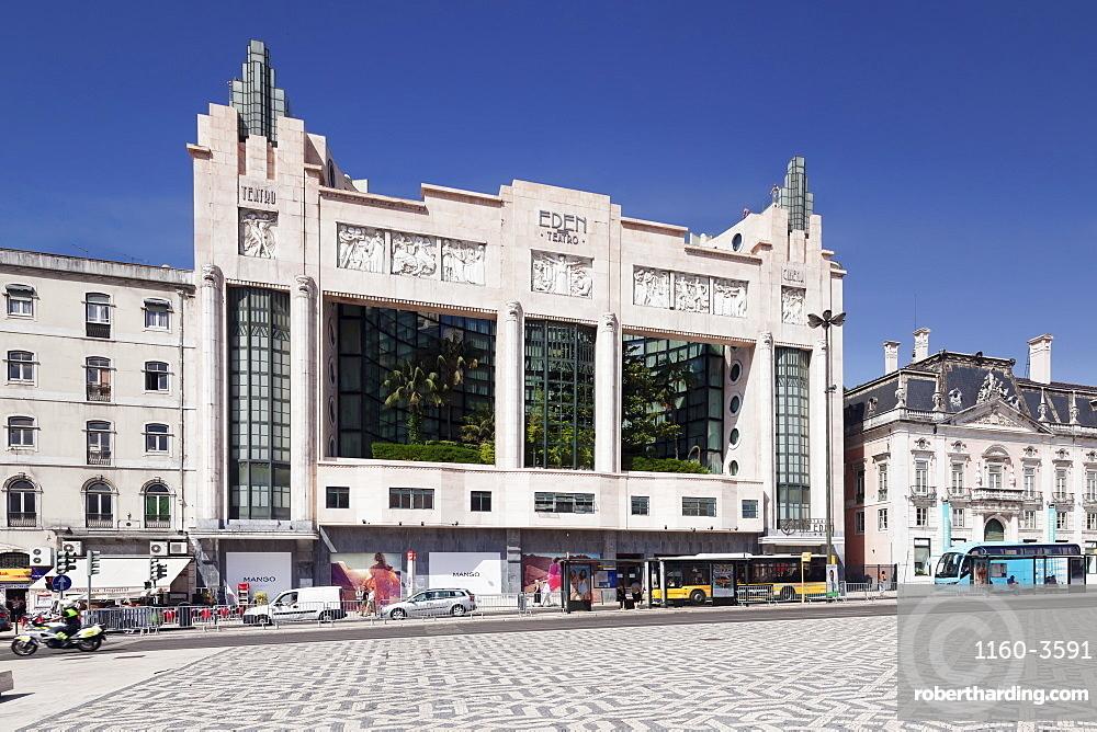 Art Deco Eden Theatre, Praca dos Restauradores, Avenida da Liberdade, Lisbon, Portugal