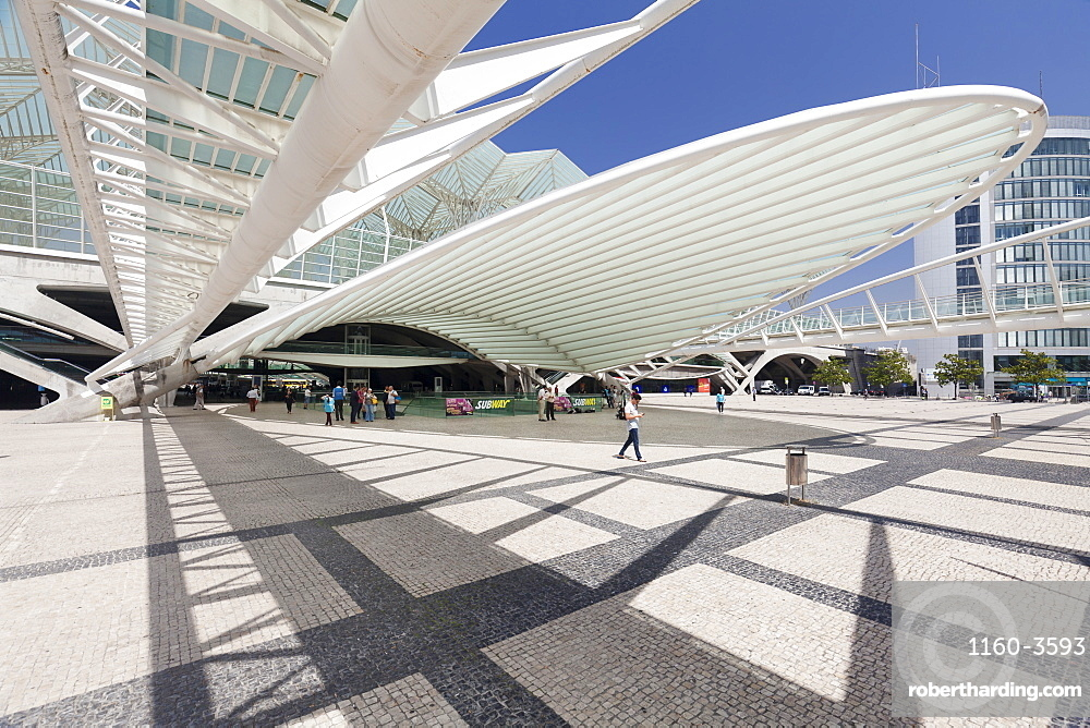 Oriente railway station, Santiago Calatrava architect, Lisbon, Portugal, Europe