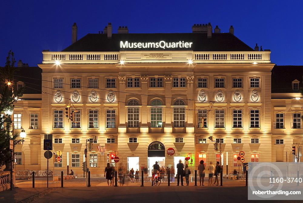 Main Entrance, MuseumsQuartier, Vienna, Austria, Europe
