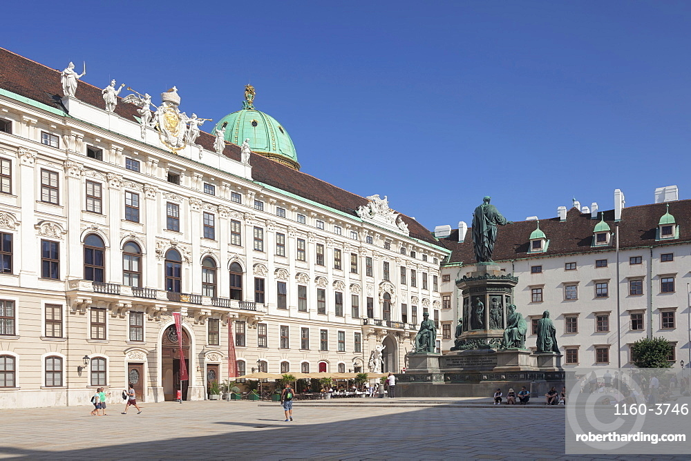 Emperor Francis Monument, Hofburg Palace, UNESCO World Heritage Site, Vienna, Austria, Europe