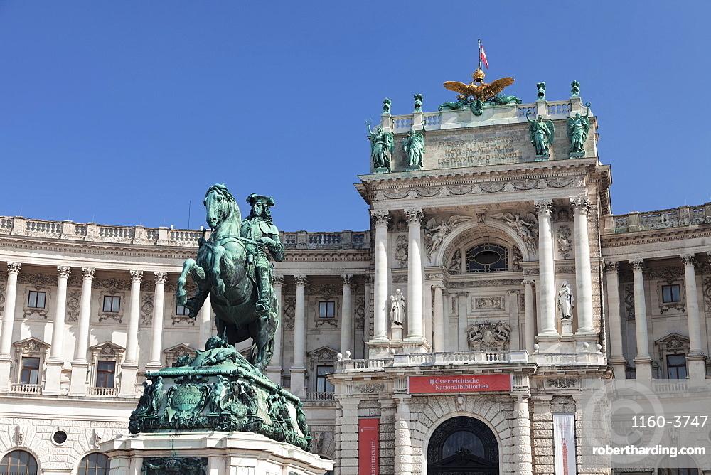 Prince Eugene of Savoy statue at Hofburg Palace, UNESCO World Heritage Site, Vienna, Austria, Europe