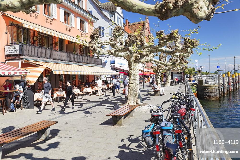 Promenade, Meersburg, Lake Constance, Baden-Wuerttemberg, Germany