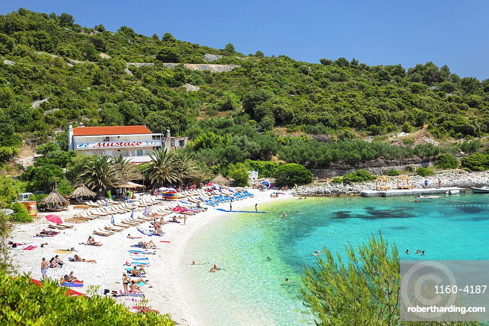 Beach near Hvar town, Hvar Island, Dalmatia, Croatia