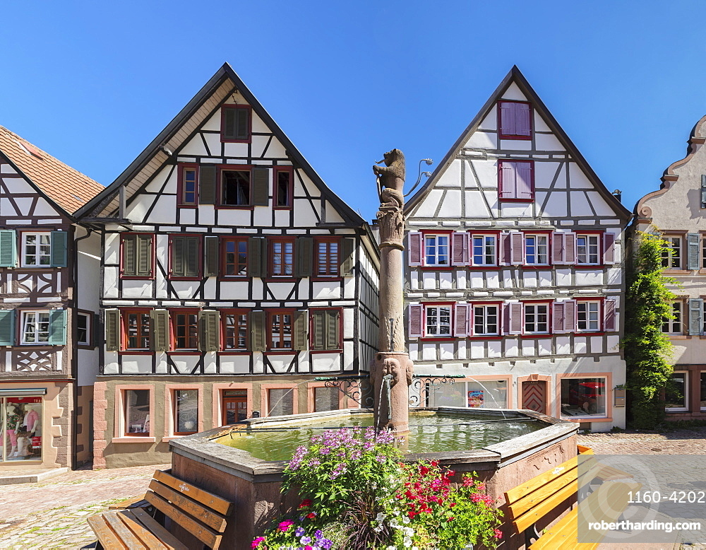 Market Place, Schiltach, Black Forest, Kinzigtal Valley, Baden-Wuerttemberg, Germany
