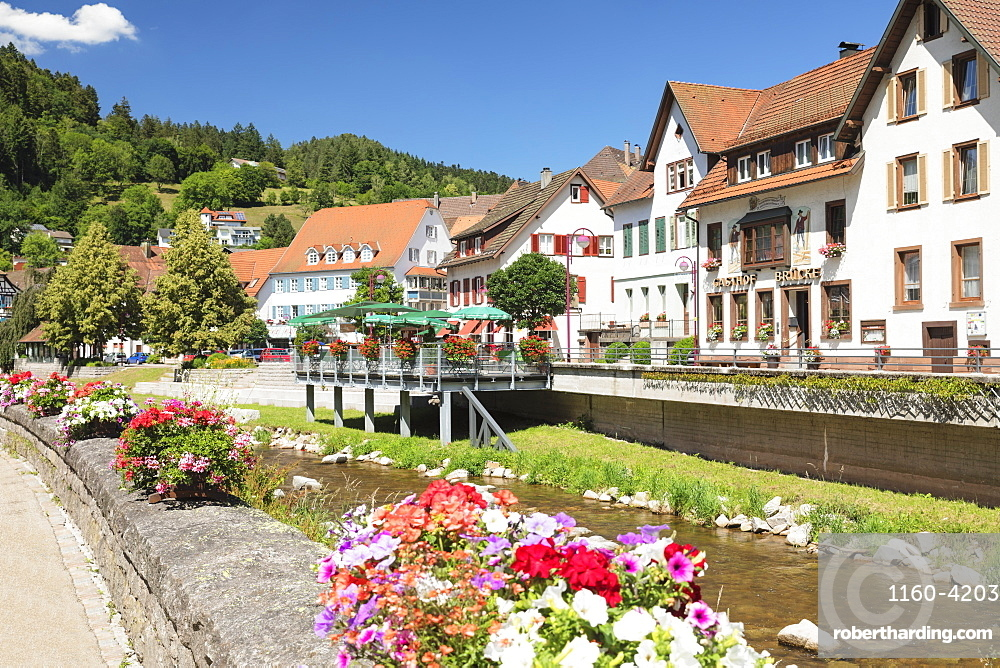 Schiltach, Black Forest, Kinzigtal Valley, Baden-Wuerttemberg, Germany