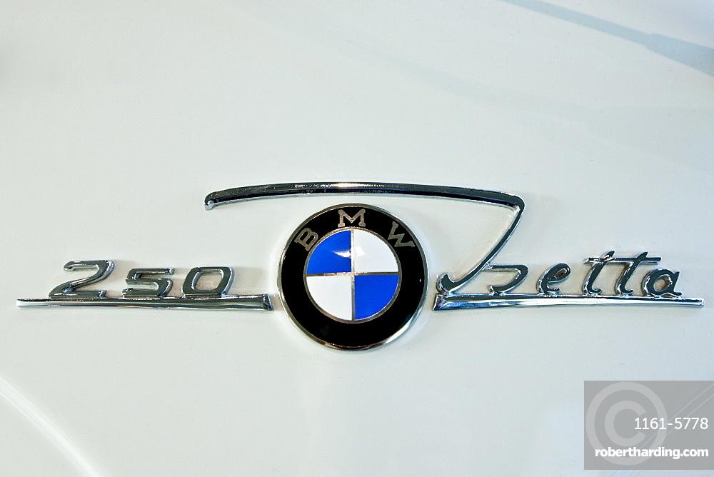 Bmw 250 Isetta Badge On Stock Photo