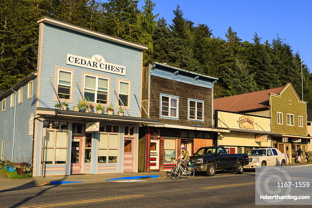 Stedman-Thomas National Historic District, beautiful summer evening, Ketchikan, Southern Panhandle, Southeast Alaska, United States of America, North America