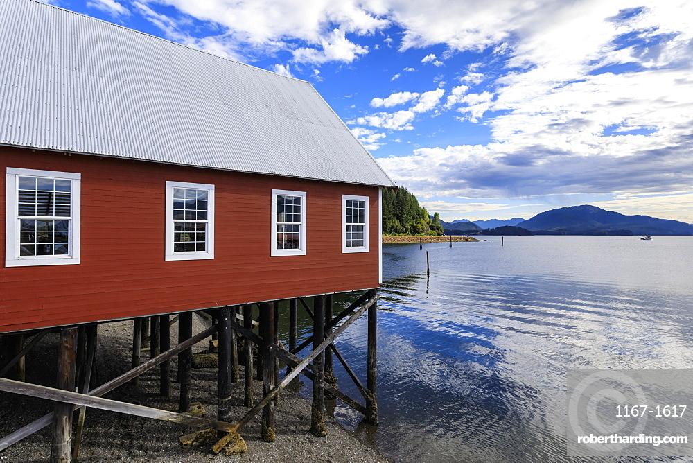 Restored salmon cannery museum, Icy Strait Point, Hoonah, Summer, Chichagof Island, Inside Passage, Alaska, USA