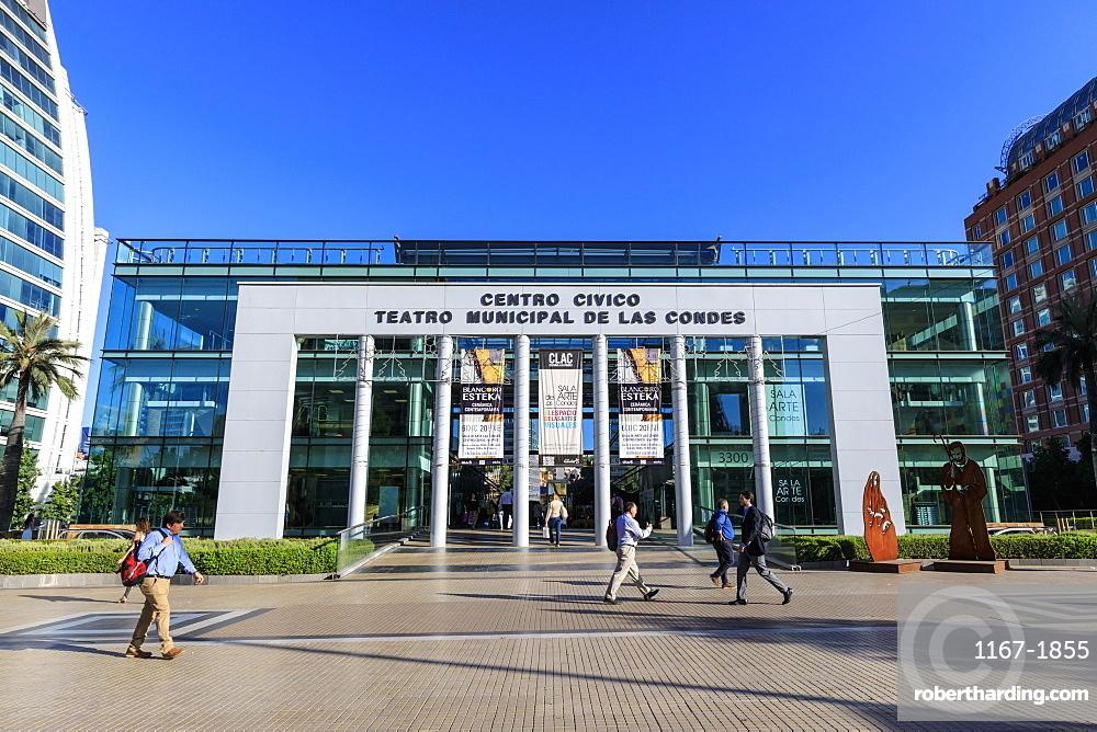 Theatre and Civic Centre, prestigious El Golf area, Las Condes, Santiago de Chile, Chile, South America