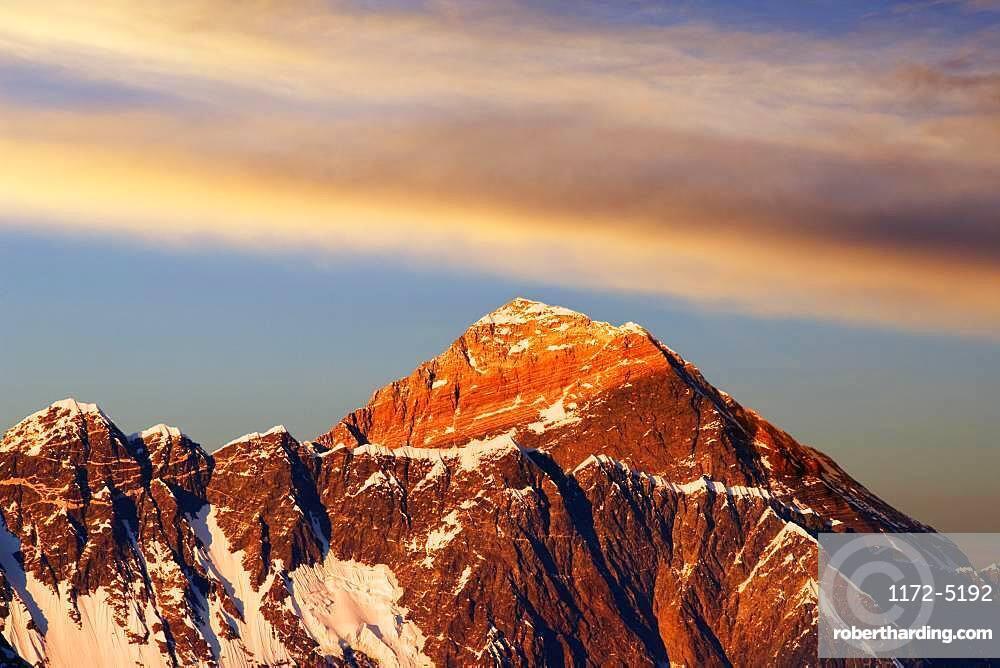 Everest, Nuptse, Evening Glow
