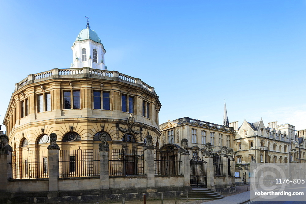 The Sheldonian Theatre by Christopher Wren, Oxford, Oxfordshire, England, United Kingdom, Europe