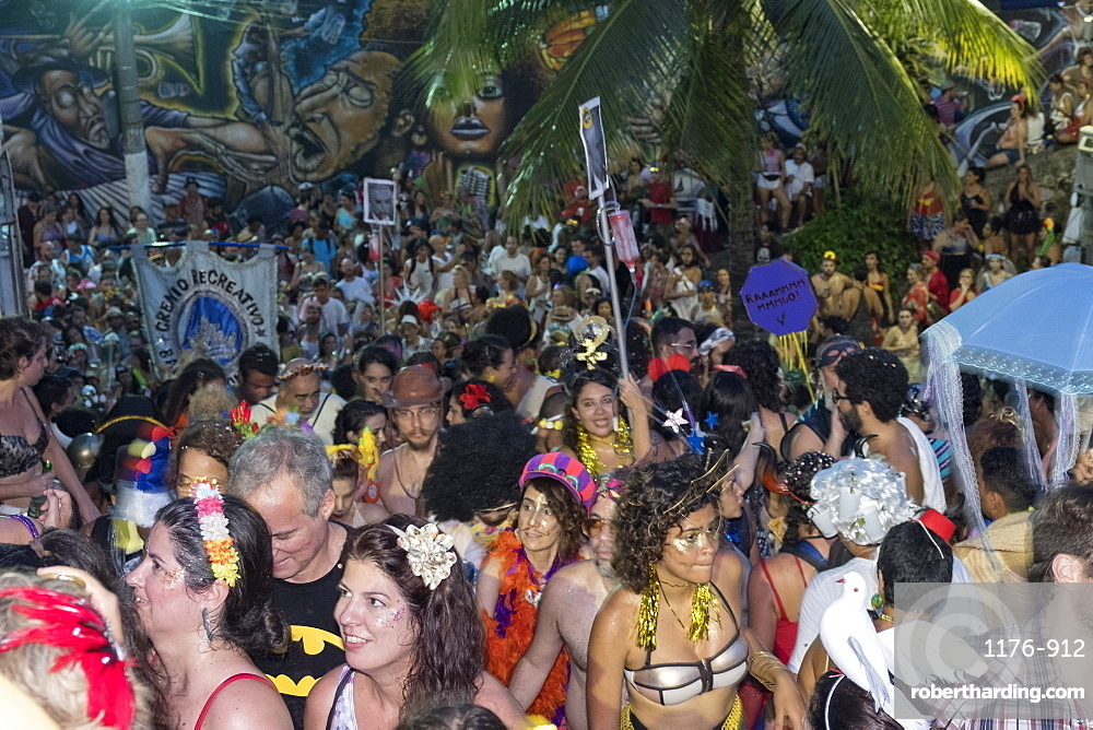 The banda da Conceicao street carnival troupe in Rio de Janeiro carnival