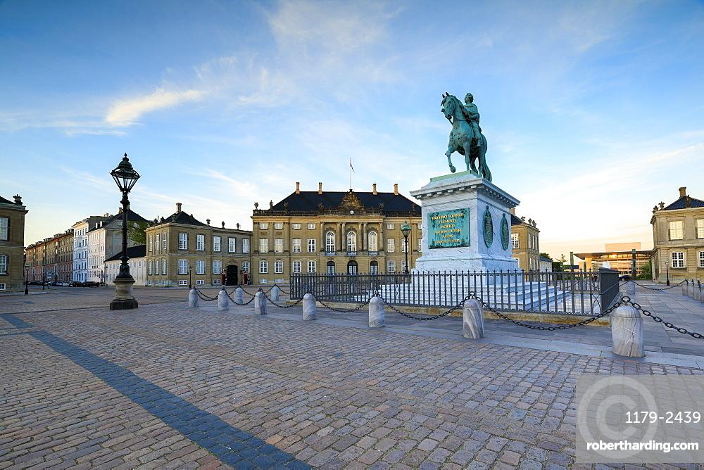 Statue of Frederick V, Amalienborg Palace Square, Copenhagen, Denmark, Europe