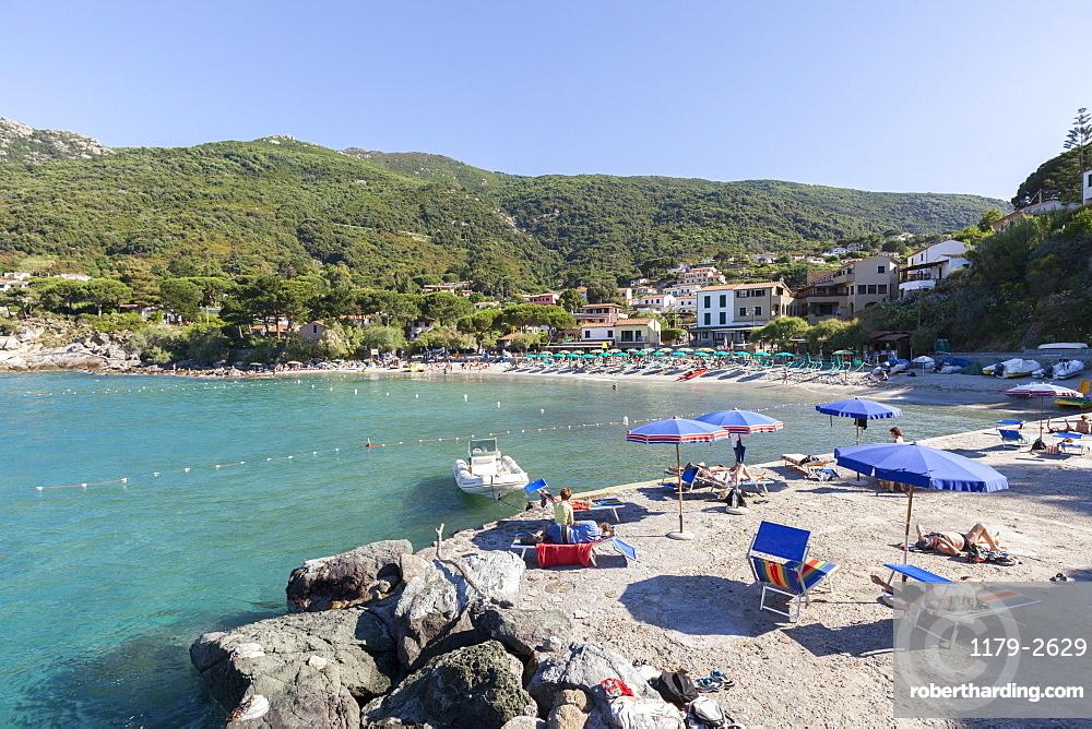 Beach of Pomonte, Marciana, Elba Island, Livorno Province, Tuscany, Italy, Europe