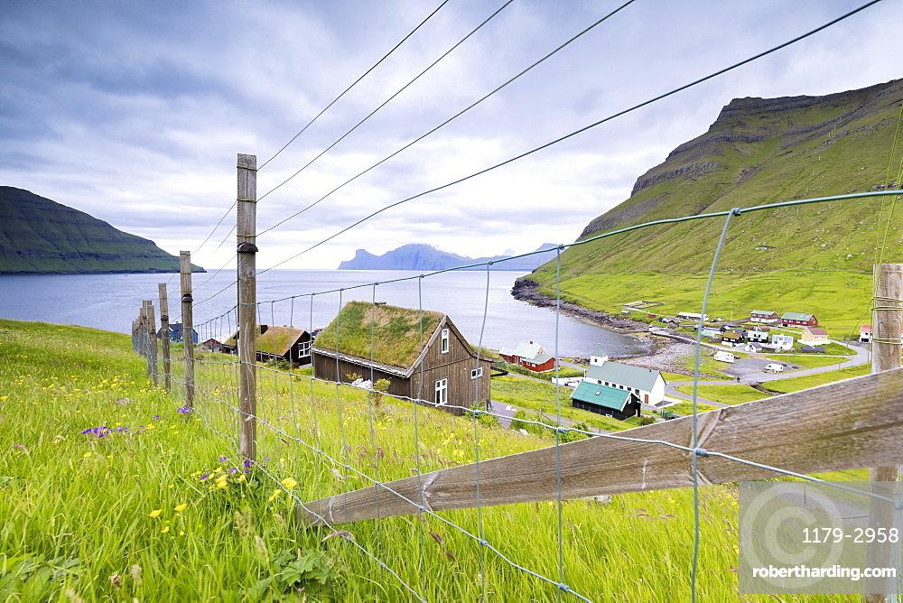 Village of Elduvik, Eysturoy Island, Faroe Islands, Denmark, Europe