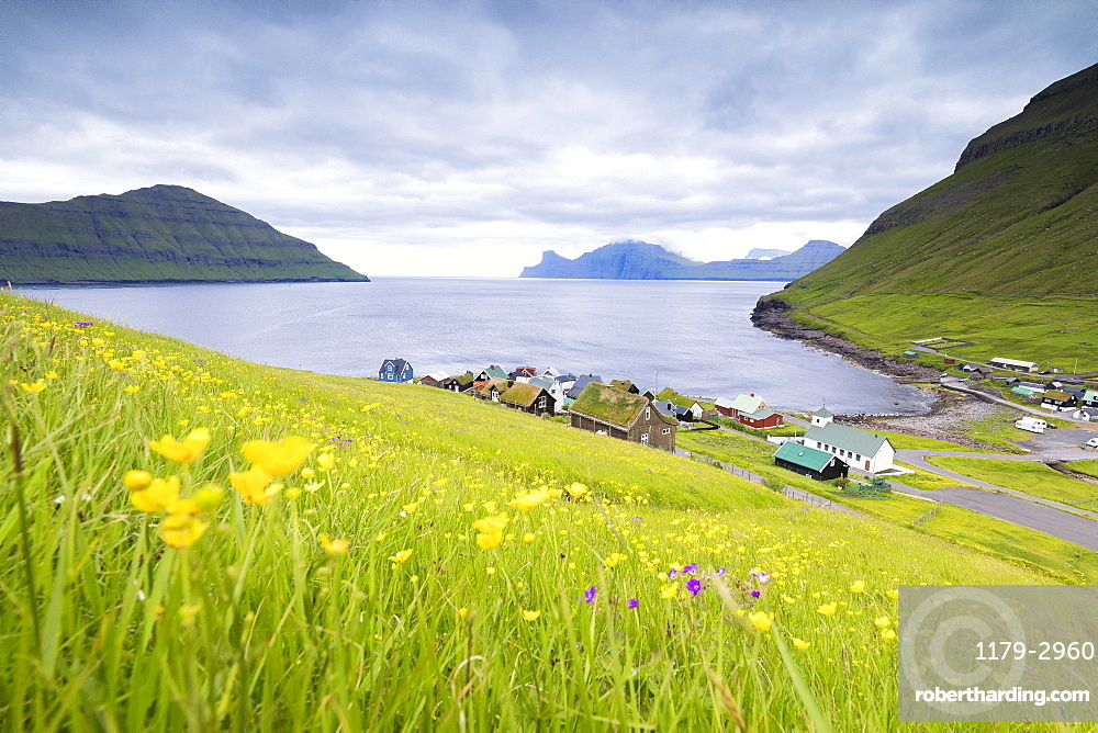 Village of Elduvik, Eysturoy Island, Faroe Islands, Denmark, Europe