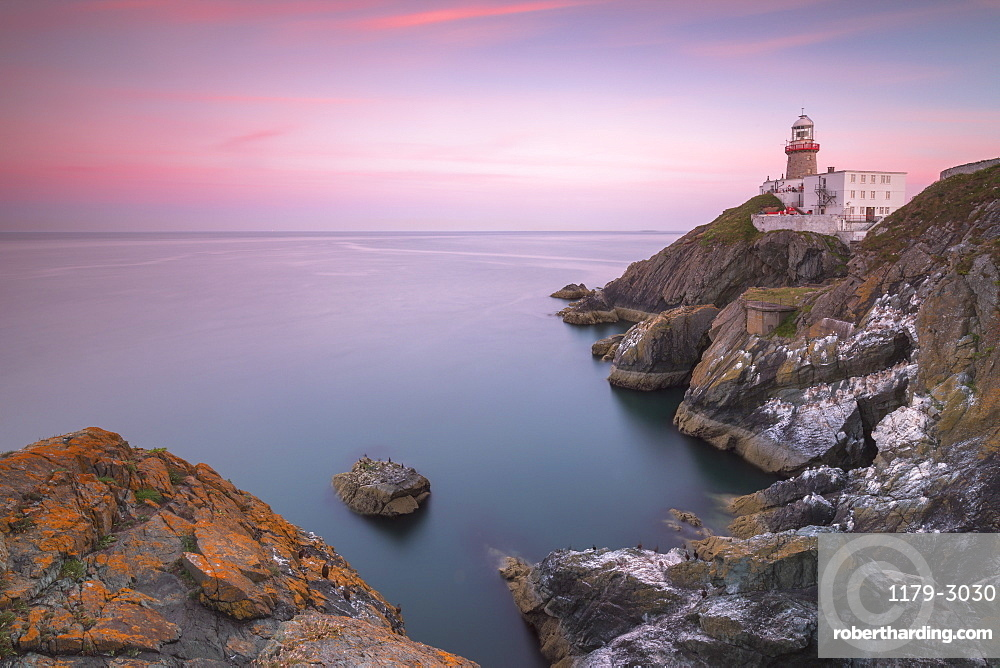 Sunset on Baily Lighthouse, Howth, County Dublin, Ireland