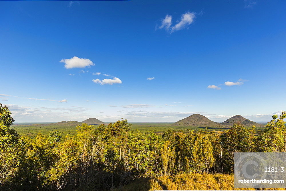 Glasshouse Mountains general view, Queensland, Australia, Pacific