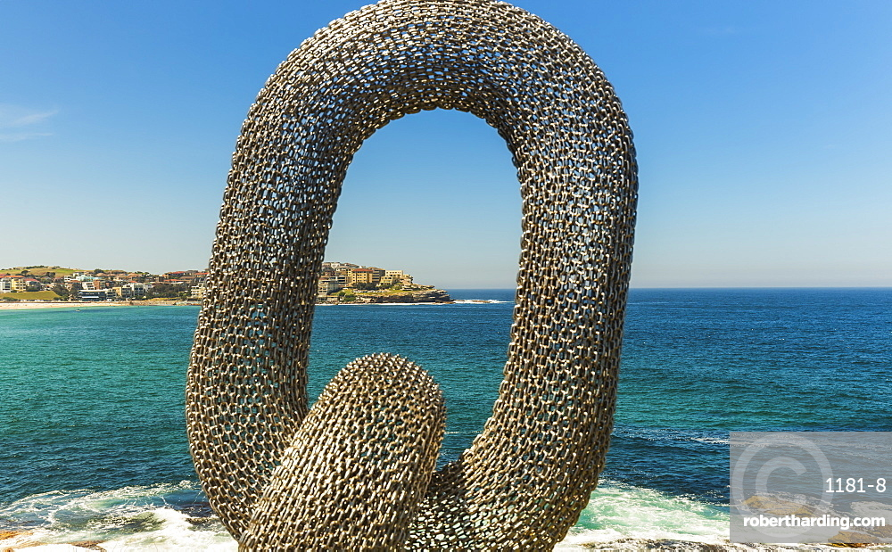 Sculpture by the sea, with Bondi Beach in the background, Sydney, New South Wales, Australia, Pacific