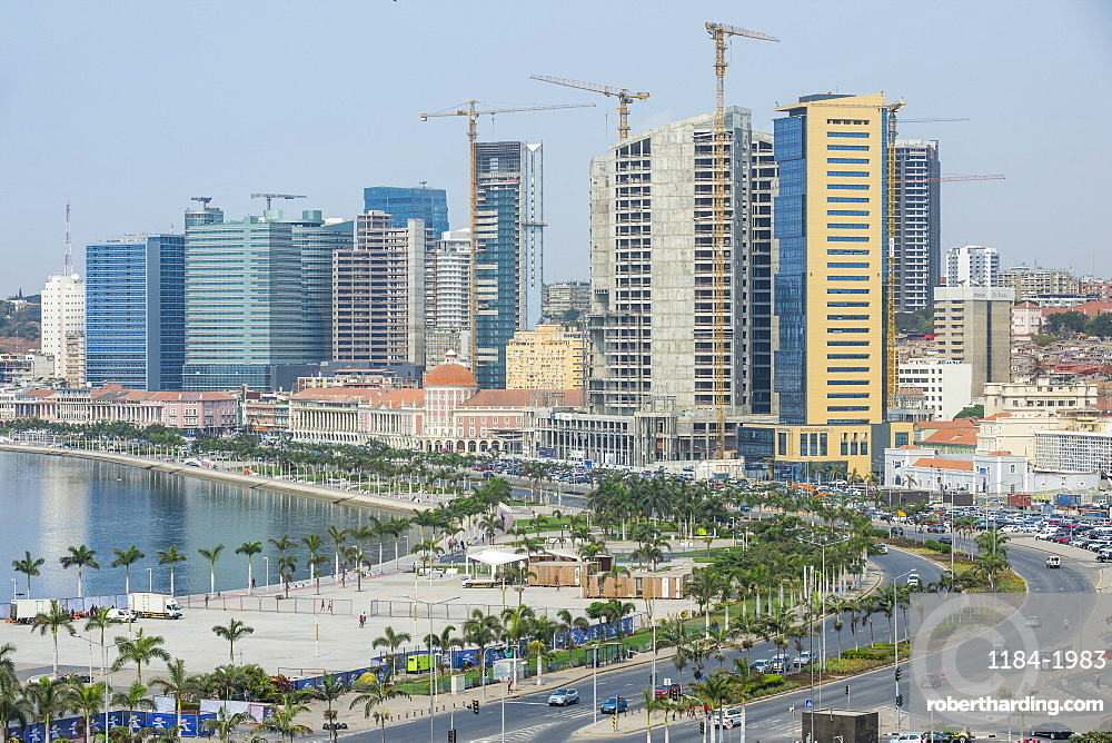 Overlook over the new Marginal promenade (Avenida 4 de Fevereiro) , Luanda, Angola
