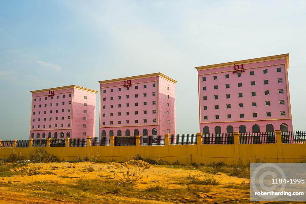 New Chinese buildings, Malanje, Malanje province, Angola, Africa