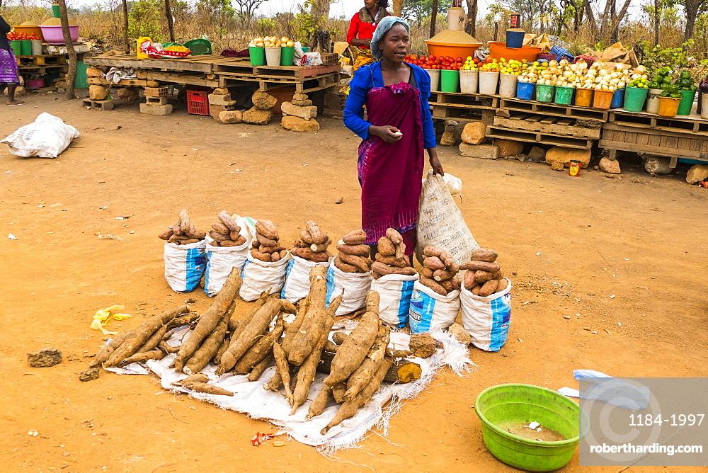 Street market, Malanje province, Angola