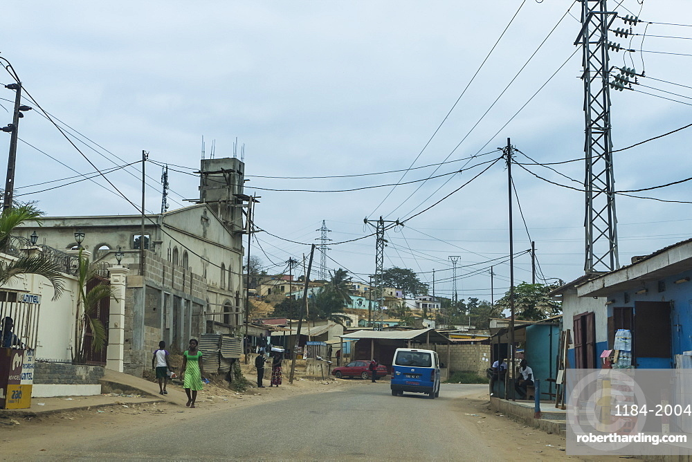 Street scene in the town of Cabinda, Angola, Africa
