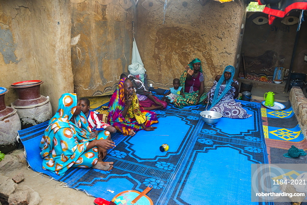Backyard of a traditional house, Gaoui, near N'Djamena, Chad, West Africa, Africa