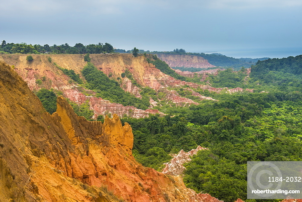 Erosion created the Grand Canyon of the Congo, Diosso Gorge, Pointe-Noire, Republic of the Congo, Africa