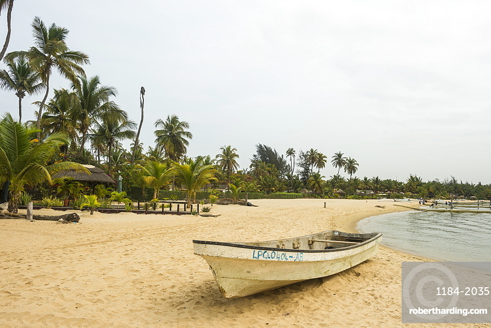 Long beach on Mussulo island, Luanda, Angola, Africa