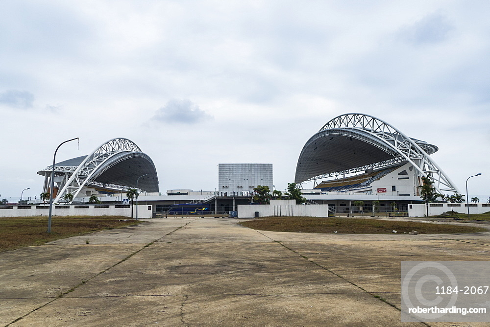 Soccer stadium Angondje build for the Africa cup of Nations, Libreville, Gabon