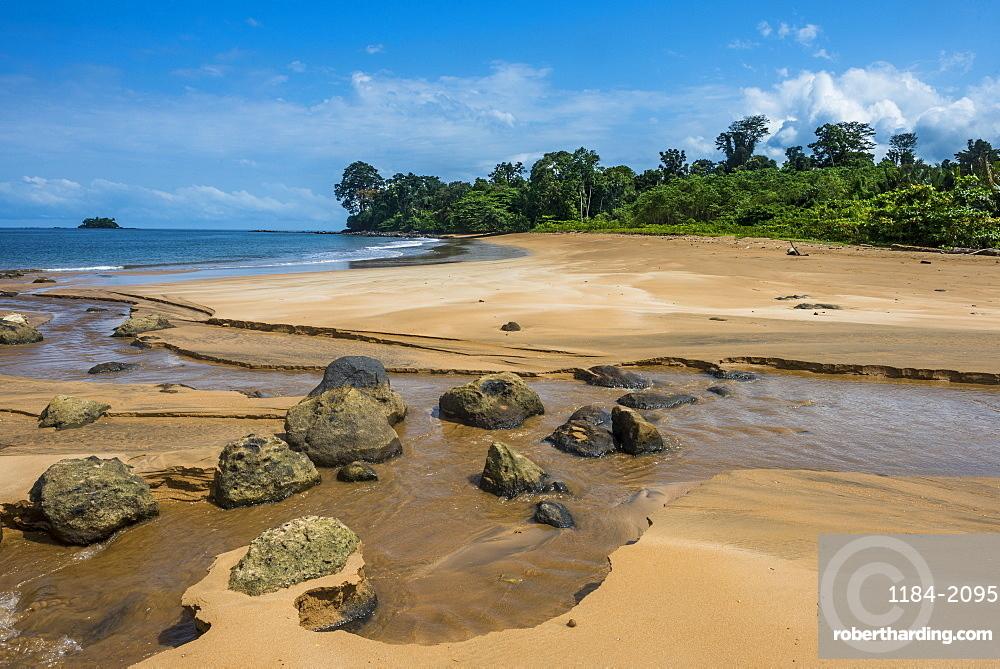 Playa de Alena, white sand beach, Bioko, Equatorial Guinea