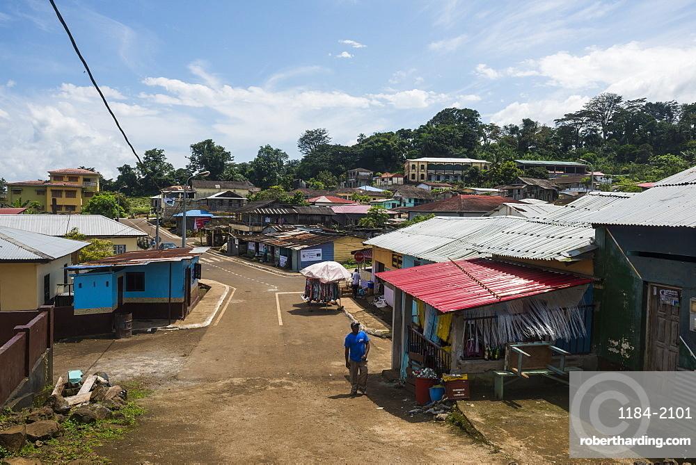 View over Batete, Bioko, Equatorial Guinea, Africa