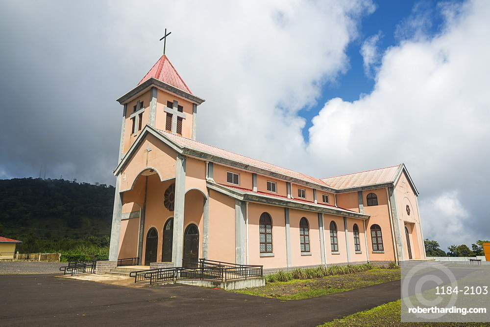 Church in Moka, Bioko, Equatorial Guinea, Africa