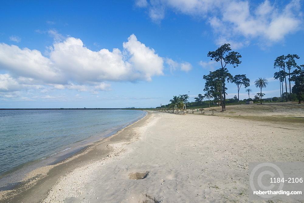 White sand beach before Horacio island, Bioko, Equatorial Guinea, Africa