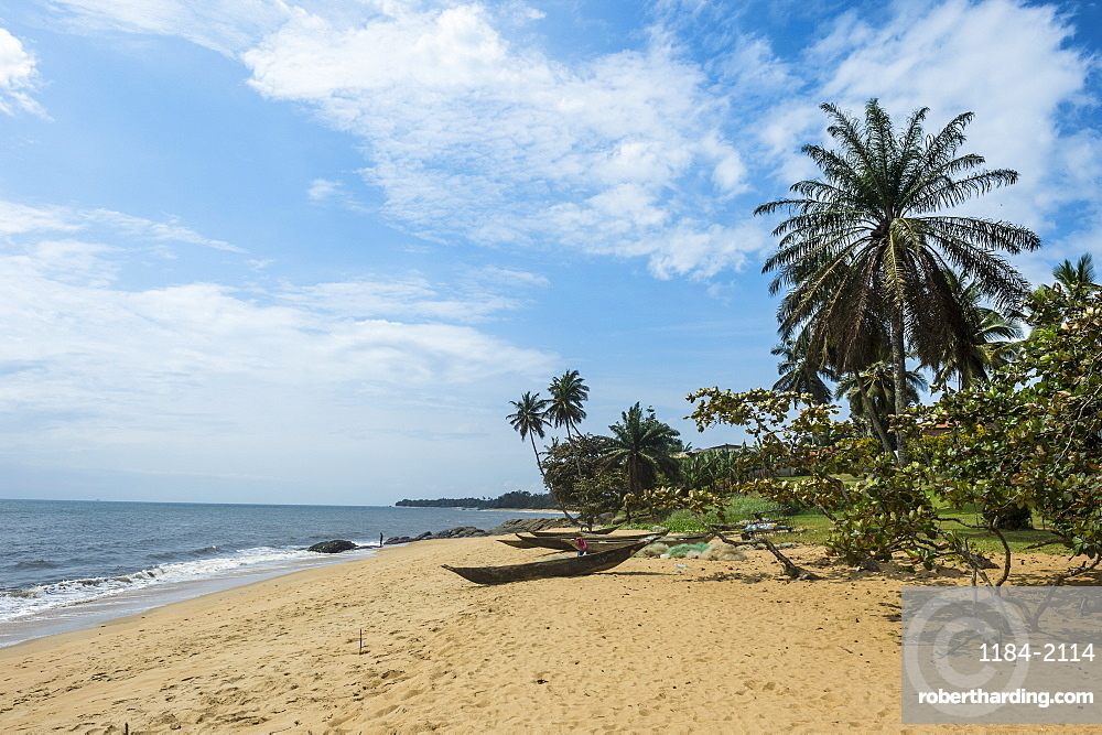 Beautiful beach in Kribi, Cameroon