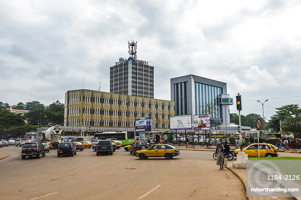 Canter square in downtown, Yaounde, Cameroon, Africa