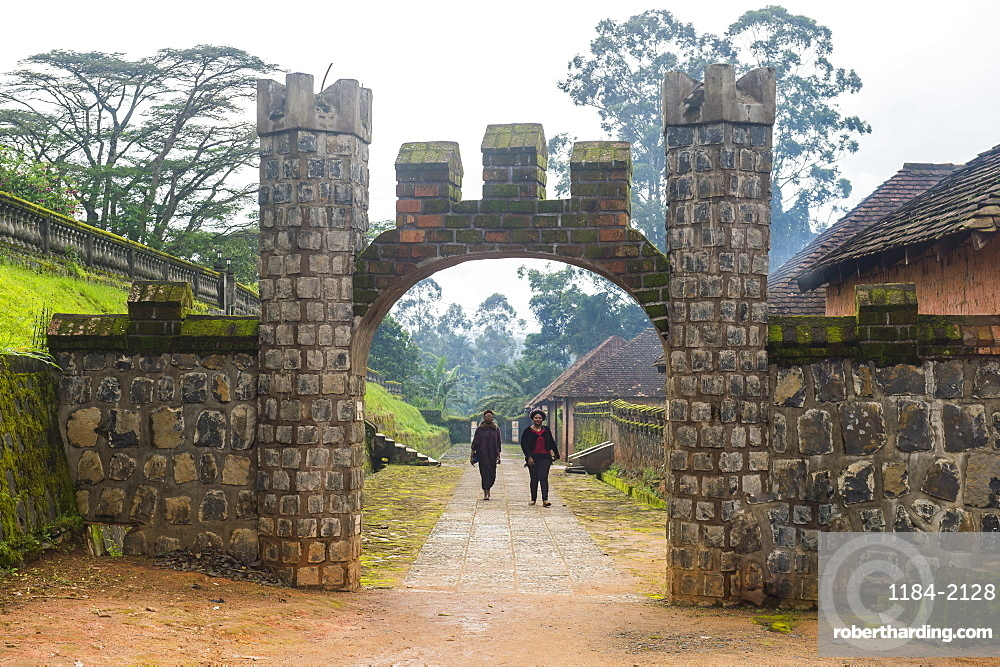 Entrance to Fon's palace, Bafut, Cameroon, Africa