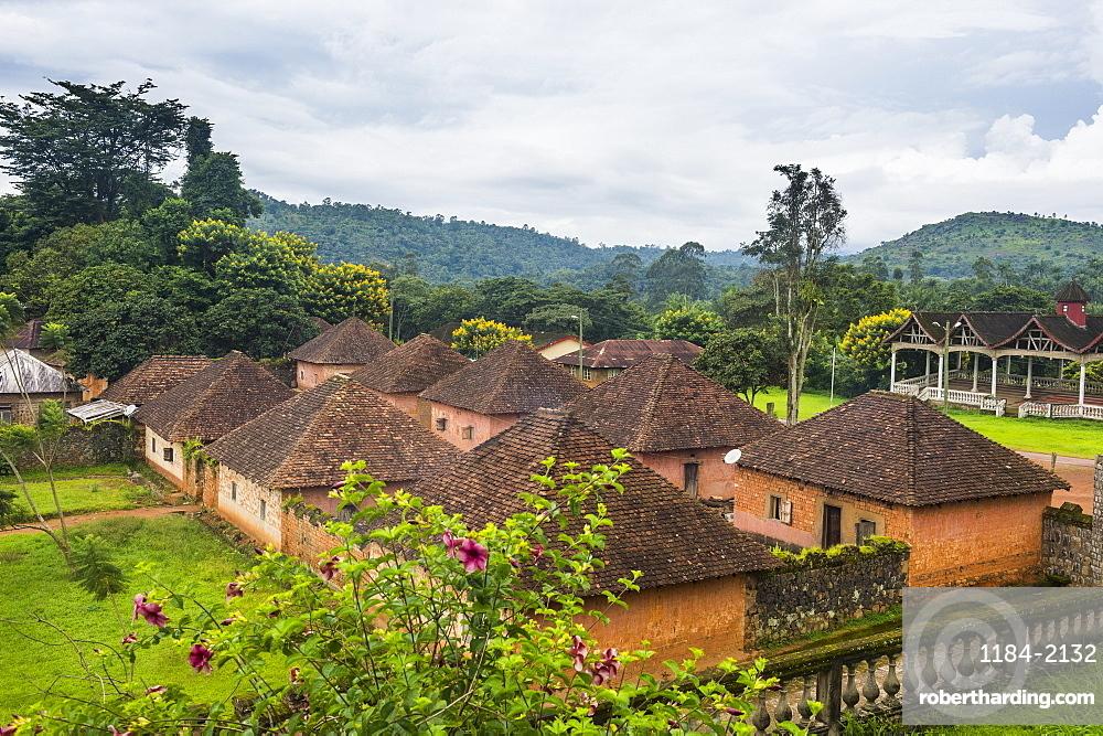 Overlook over Fon´s palace, Bafut, Cameroon
