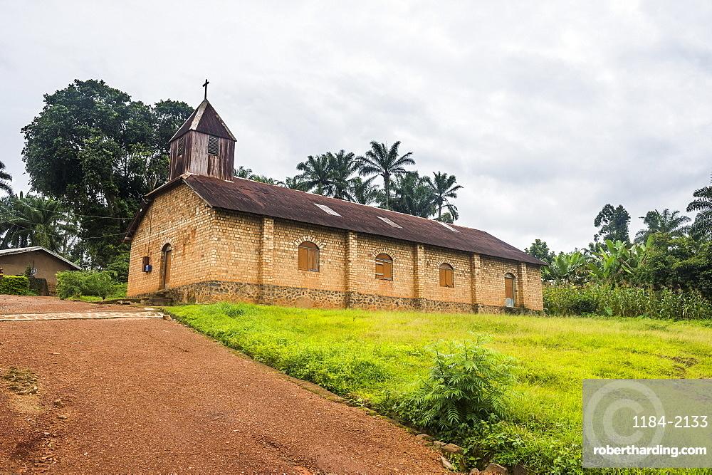 German colonial church in Bafut, Cameroon, Africa