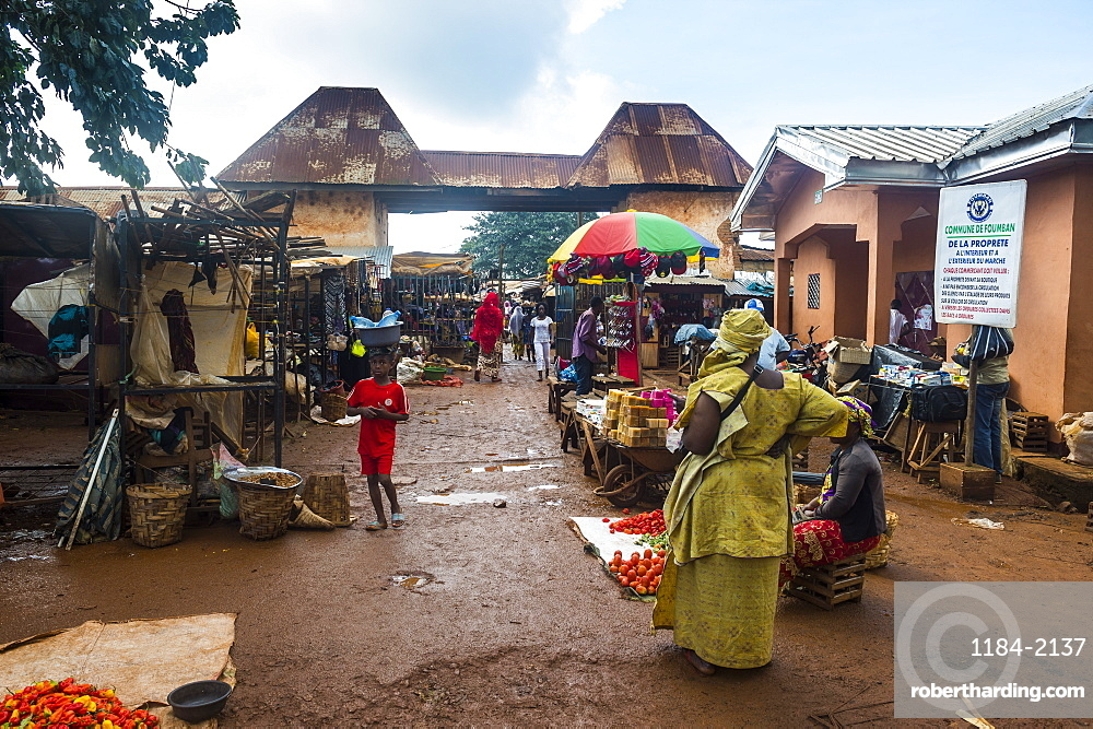 Market in Foumban, Cameroon, Africa